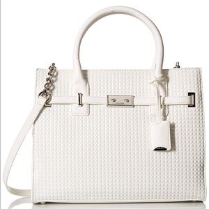 👜 NWT Nine West White Structured Studded Tote 👜